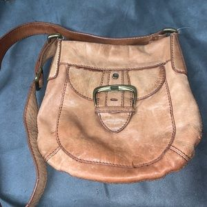 Vintage Fossil faded leather purse